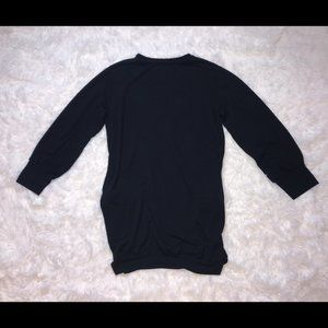 Cotton Long Sleeve Oversized Sweater Dress